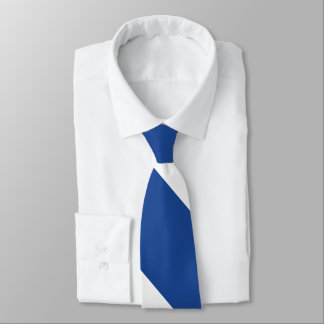Country Blue and White Broad University Stripe Tie