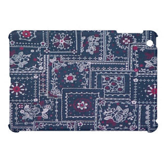 Country Blue Bandana iPad Mini Glossy Finish Case iPad Mini Cover