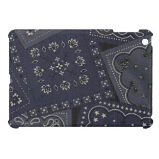 Country Blue Bandana iPad Mini Glossy Finish Case iPad Mini Covers
