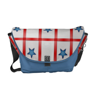 Country Blue Star Patriotic Checks Commuter Bag
