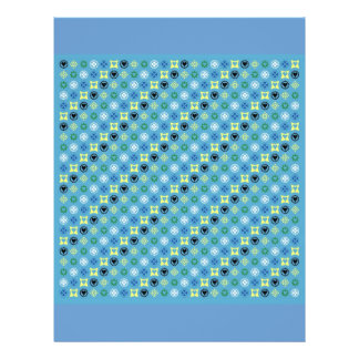 COUNTRY BLUE STRIPES PATTERN FLORAL DOTS TEXTURES FLYER