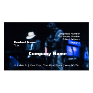 Country Blues Musicians Shadowy Impression Pack Of Standard Business Cards