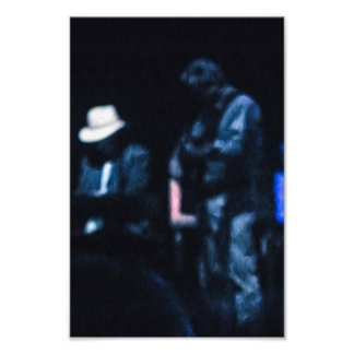 Country Blues Musicians Shadowy Impression Photo