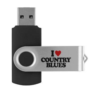 COUNTRY BLUES SWIVEL USB 2.0 FLASH DRIVE