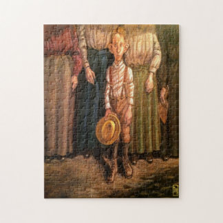 """""""Country Boy w/ Yellow Hat"""" 11x14 Picture Puzzle"""