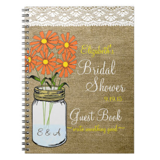 Country Bridal Shower Guest Book- Notebooks