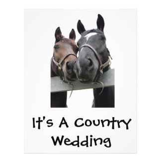 Country Bride and Groom 21.5 Cm X 28 Cm Flyer