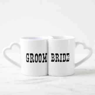 Country Bride and Groom Coffee Mug Set