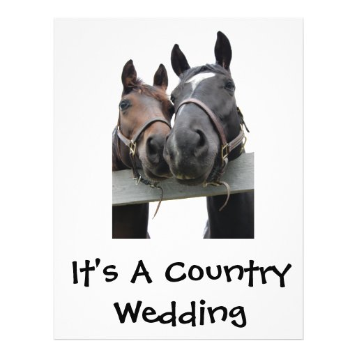 Country Bride and Groom Full Color Flyer