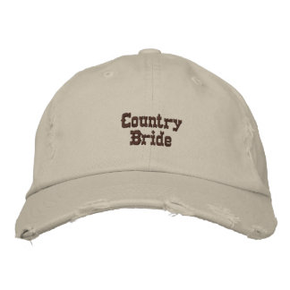 Country Bride Embroidered Cap
