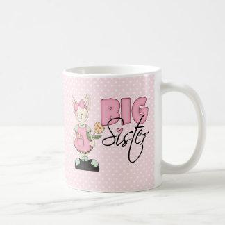 Country Bunny Big Sister (pink) Basic White Mug