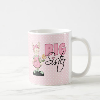 Country Bunny Big Sister (pink) Coffee Mug