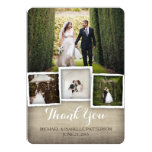 Country Burlap Wedding Photo Thank You Card Announcements
