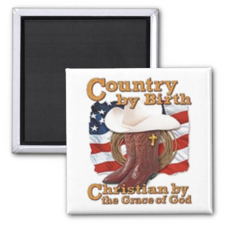 country by birth square magnet