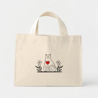 Country Cat Mini Tote Bag