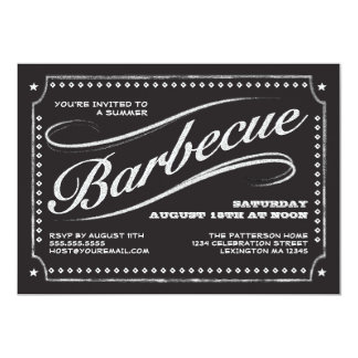 Country Chalkboard Summer Barbecue Invitation