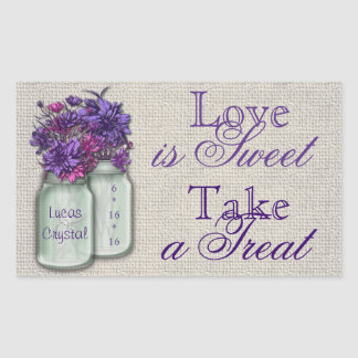 Country Charm Purple Candy Buffet Sticker