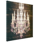 Country chic barn wood Rustic vintage chandelier Canvas Print
