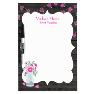 Country Chic Light Strings Event Planner Dry Erase Board