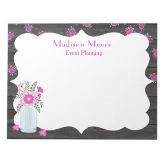 Country Chic Light Strings Event Planner Notepad