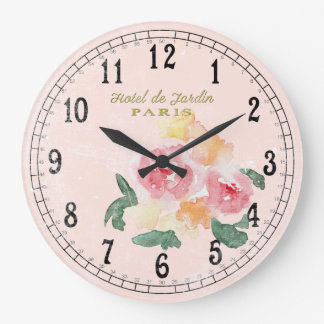 Country Chic or Cottage Chic Large Clock