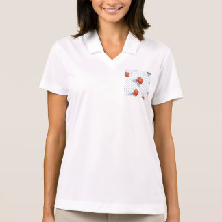 country chic,orange red,pale blue, polka dot,roses polo