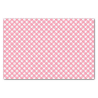 Country Chic Pastel Baby Pink Gingham Tissue Paper