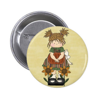 Country Chic Rag Doll Pinback Buttons