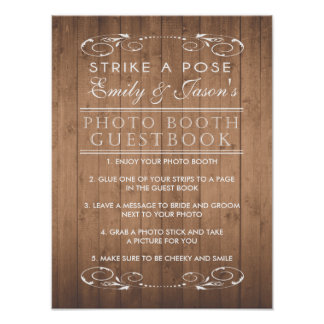 Country chic wedding Photo Booth Guest Book sign