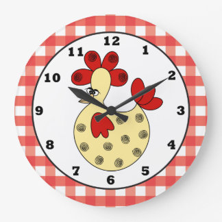 Country Chicken kitchen wall clock