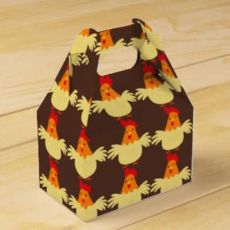 Country chicken pattern party favor box