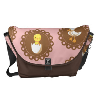 Country Chickens - Pink Messenger Bag
