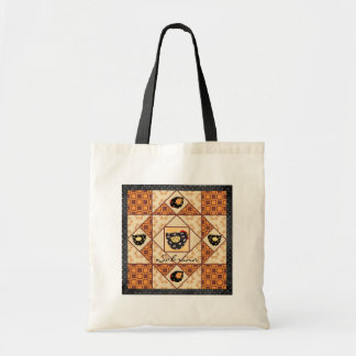 Country Chicks Faux Quilt Block Tote