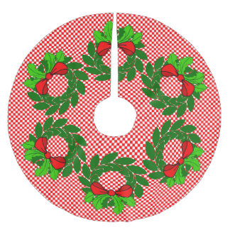 Country Christmas Brushed Polyester Tree Skirt