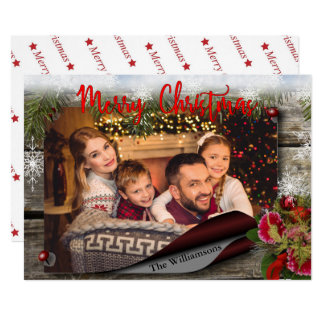 Country Christmas Bulletin Board Photo Card