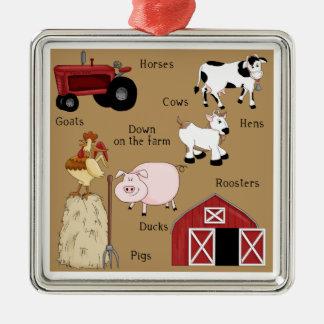 Country Christmas Farm Animals Christmas Tree Ornaments