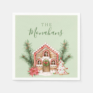 Country Christmas Gingerbread House Paper Napkins