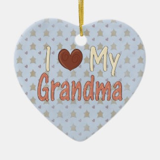 Country Christmas Love my GranMa Heart Ornament