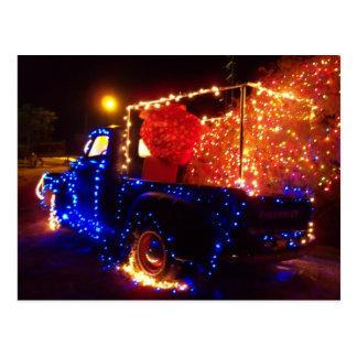 Country Christmas Pickup Truck Christmas Postcard