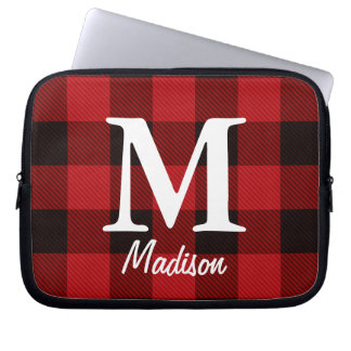 country Christmas Red buffalo plaid lumberjack Laptop Sleeve