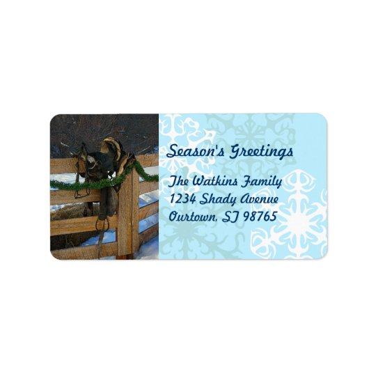 Country Christmas Return Address Label