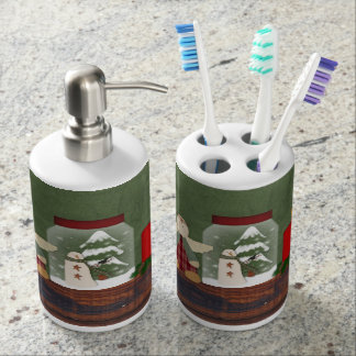 Country Christmas Toothbrush/Soap Set
