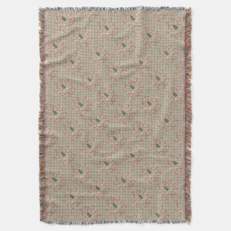 Country Christmas tree pattern Throw Blanket