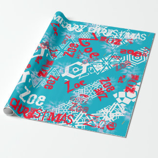 Country Christmas Winter Gift Wrap Name Changing