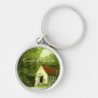 Country Church Key Ring
