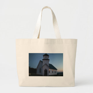 Country Church Large Tote Bag