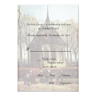Country church wedding RSVP cards 9 Cm X 13 Cm Invitation Card