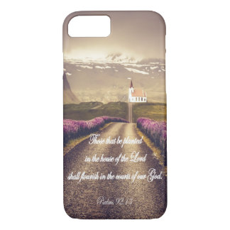 Country Church with Psalms Scripture/Bible Verse iPhone 8/7 Case