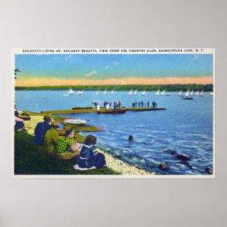 Country Club View of Sailboat Regatta 2 Print