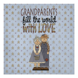 Country Collection Grandparents Love Art Print Pos